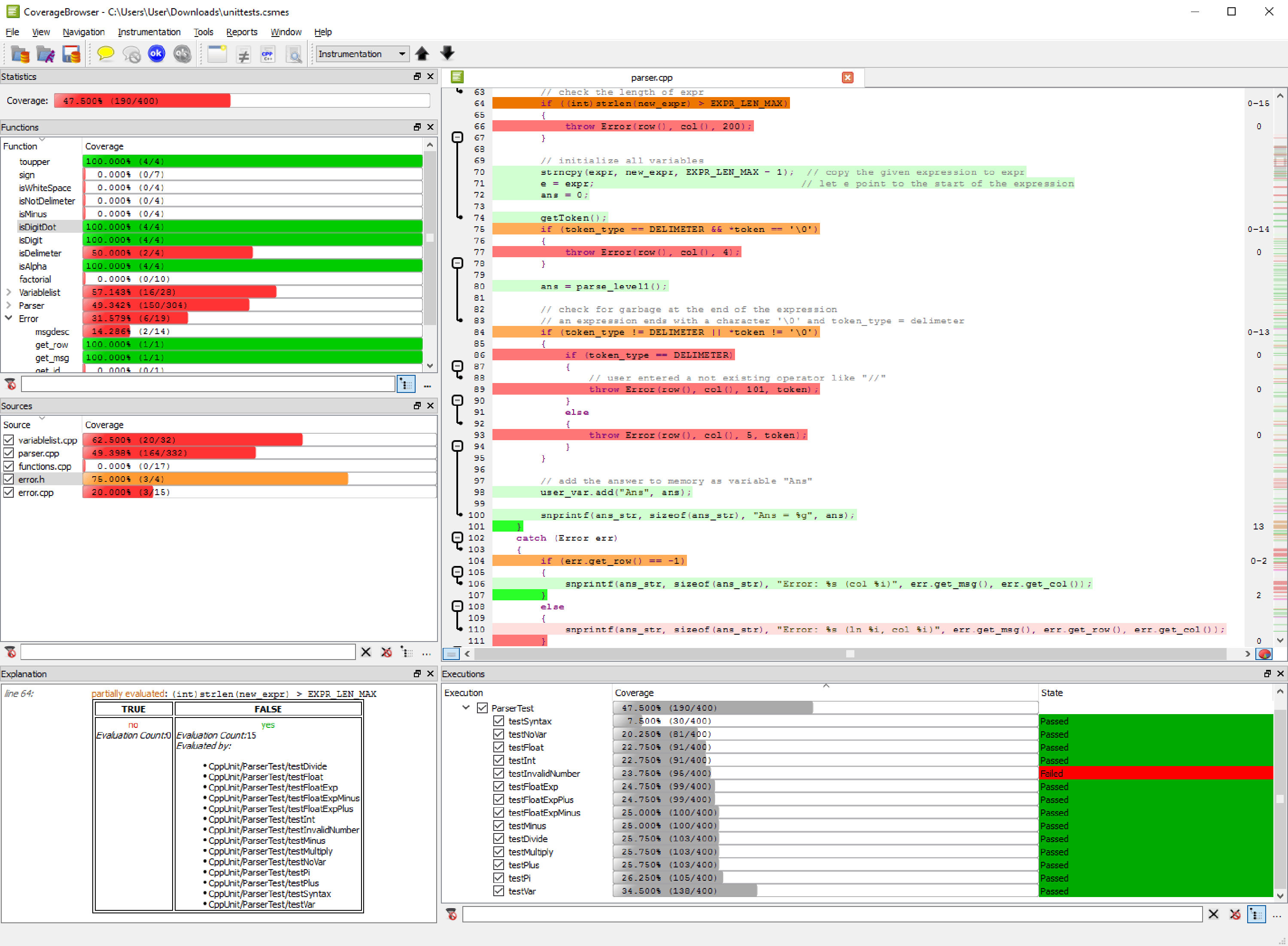Code coverage tool for c c c qml and tcl froglogic baditri Choice Image