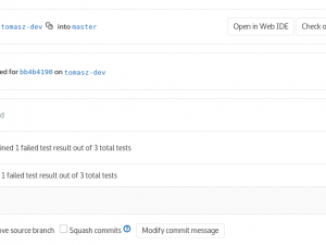 View Squish Test results of merge requests in GitLab