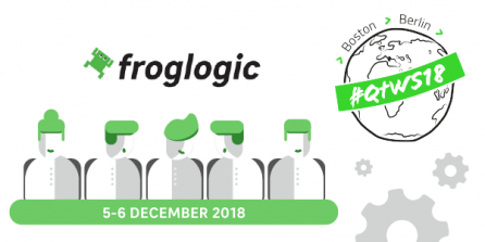 froglogic at the Qt World Summit 2018 in Berlin