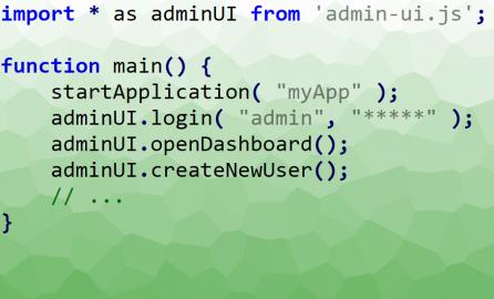 javascript module example code