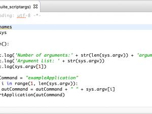 GUI Test Configuration Through Script Arguments