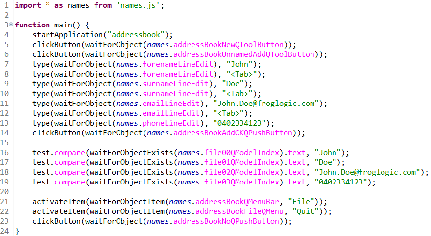 Example of new highlighting options