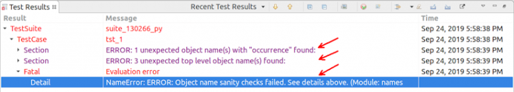object map sanity check report overview