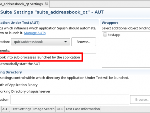 Control of Sub-processes During GUI Testing