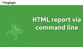 Tutorial HTML Report via Command Line