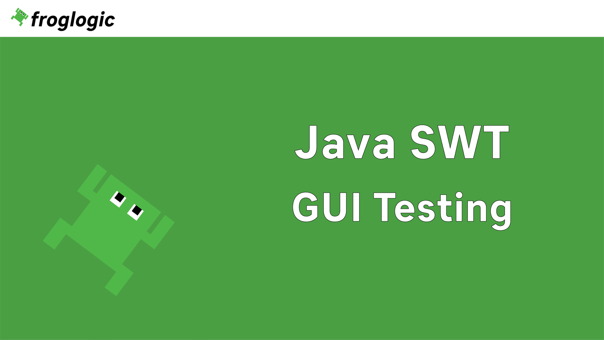 Tutorial Java SWT GUI Testing