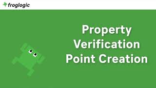 Tutorial Property Verification Point Creation