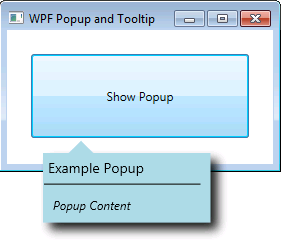 Wpf Popup