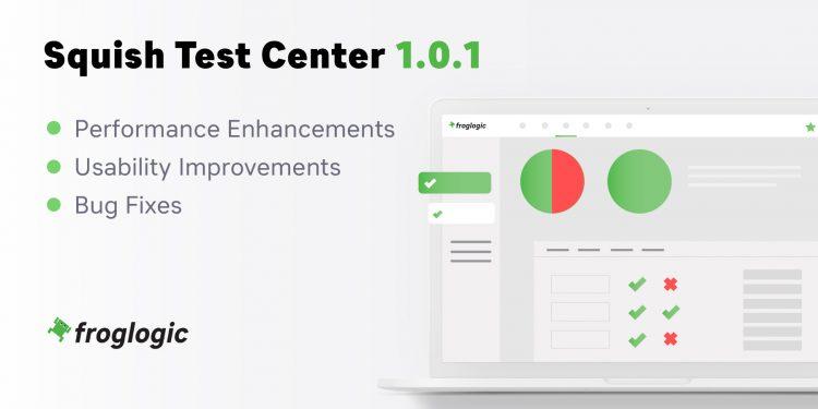 Squish Test Center 1.0.1 Release Graphic