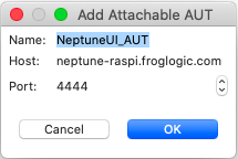 Squish Server Settings for Defining Attachable AUT