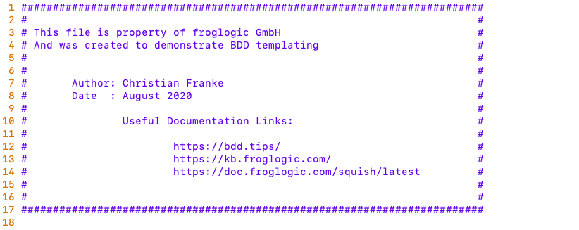 Example froglogic custom feature file.