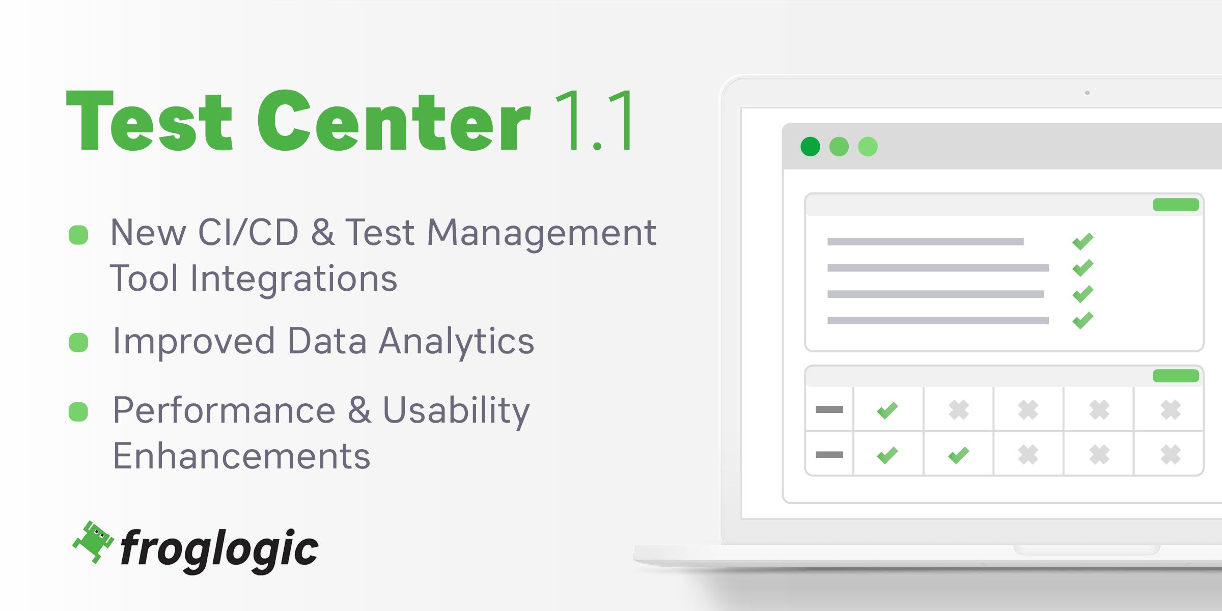Test Center 1.1 Release