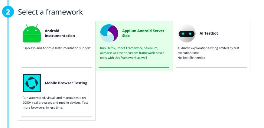 Step 2: Select a framework