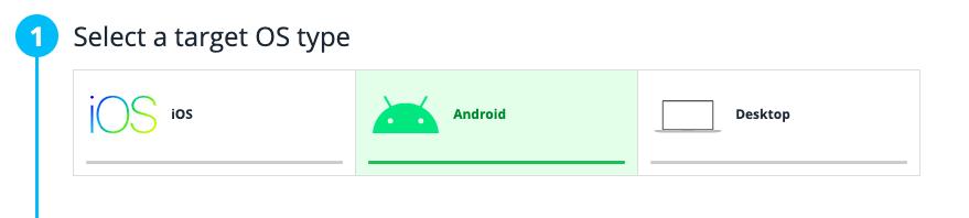 Step 1: Select a target OS type